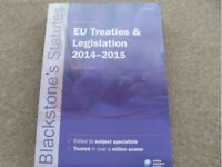 Law Statutes Book EU Treaties and Legislation