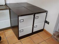 Metal Filing Cabinet - Two Drawer - strong and study, hardly used - Two available