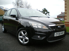 *** 2008 Ford Focus STYLE 100 BLZCK 1.6 PETROL MANUL *** FULL SERVICE HISTORY *** 12 MONTHS MOT***