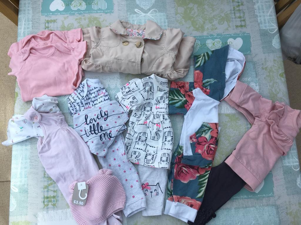 Baby Girl Clothes Bundle 0-3 Months Mixed Items & Lots Free Postage Baby & Toddler Clothing