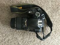 Nikon D3300 with 18-55mm lens included