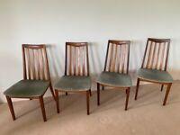 Danish vintage TEAK Dining Chairs Mid Century Modern Vintage Retro Scandi
