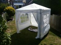 Garden gazebo tent shelter white with windows 2m x 2m