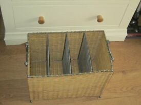 wicker paper rack