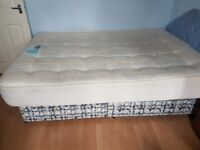 DIVAN BED SET WITH MATTRESS, HEADBOARD AND 2 DRAWERS