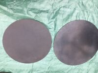 "Wokingham Drum Sales - Pair Drum Silencers/Practise Pads - 16"" and 14"""