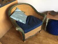 Wicker Chair with Ikea Cushion