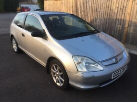 2003 HONDA CIVIC 1.4 IMAGINE SILVER 3DR HATCHBACK