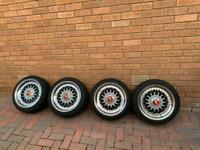 BBS 4x100 RS wheels with tyres