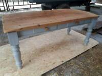 Farmhouse Kitchen Dining Table & 6 chairs