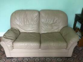 2 seater sofa cream leather