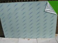 3 x Sheets of Green Perspex Approx 130cm x 196cm x 3mm Brand new Covered Both Sides