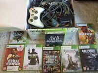 Original White Xbox 360 + 9 Games