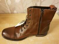 mens cognac JACK JONES size 10 savek boots