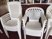 White Garden Chairs for sale