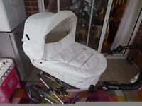 """Gorgeous BabyStyle """"Prestige"""" pram system with pushchair and carrycot. Similar to Silver Cross"""