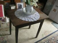 VINTAGE OLD SOLID PINE SMALL RUSTIC TABLE. LONG DRAWER. VIEWING / DELIVERY AVAILABLE