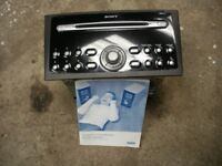 FORD, SONY DOUBLE DIN 6 DISC MULTI CHANGE STEREO