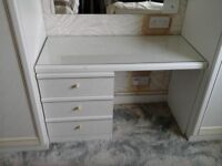 White 3 drawer dressing table