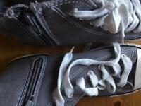 Grey canvass trainers like converse size 4