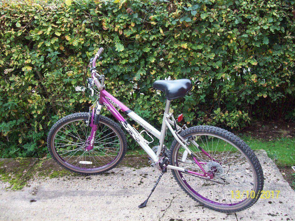 pink and grey mountin bike