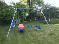 TP triple swing set with extension bar