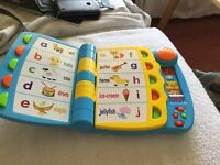 Little tikes musical talking activity book cost £12 from Asda sell £5 call 07812989350