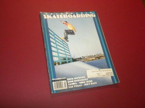 TRANSWORLD SKATEBOARDING magazine 1996 September SKATEBOARD