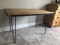 Beautiful Wooden Desk / Table With Industrial Steel Legs