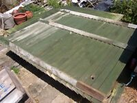 USED BOARDED WOOD FENCE PANELS 7 PANELS 4 x 6FT. 2 X 8FT 1 X 3FT ALL 5FT 4INS TALL