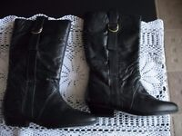 LADIES REAL LEATHER BOOTS