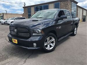 2014 Ram 1500 Sport CREW CAB 4WD LEATHER NAVIGATION MOONROOF BAC