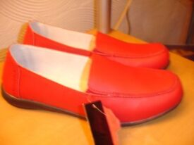 Ladies Red Leather Shoes--Brand New with Tags size 7
