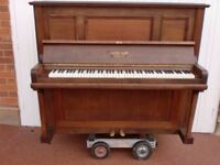 GEBHARF BERLIN PIANO RE POLISHED SATIN WAX RE STRUNG ACTION RE DONE 7 OCTAVE £550 CAN DELIVER