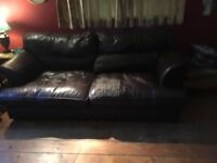 Lovely old leather sofa for sale
