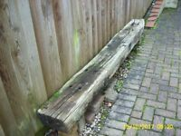 GENUINE RECLAIMED TREATED OAK RAILWAY SLEEPER