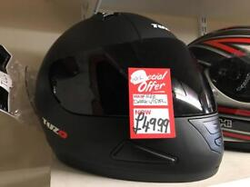 Tuzo mach1 fullface helmet with free dark visor various colours /sizes £49.98
