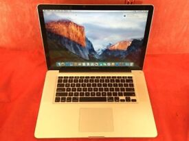 """MACBOOK PRO 15"""" CORE 2 DUO 4GB RAM 500GB HDD-2008-FIXED PRICE-collection from E17 9AP-L705"""
