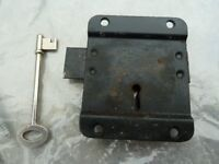NOTTINGHAM MADE SHED DOOR LOCK AND KEY
