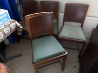 Chairs x 4 for sale - £30.00 - perfect for refurbishing to personal taste