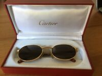 Louis Cartier Le Ur Gold Sunglasses
