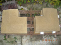 SANDSTONE COLOURED APEX COPING CORNER STONES