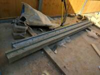 """Two: 8"""" Slotted Concrete Fence Posts x2 - NEW RRP: £38"""