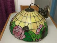 """Large Tiffany ceiling light (Vintage?) 41cm / 16"""" approx"""