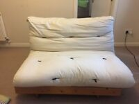 Used futon for sale! Good condition and comfortable. Base is pine wood and in good condition.