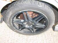 """Subaru Impeza WRX Sti Turbo 2000 17"""" Speedline Alloy Wheels & Tyres"""