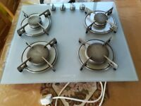 Hob Glass and chrome finish Candy stylish gas hob