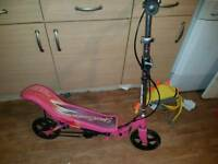 Pink space scooter . Excellent condition