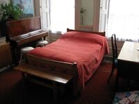 Festival let for 2; large double bedsit (with piano!) and single bedroom