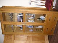 "oak display cabinet bought from"" ALAN WARD""."